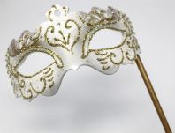 White and Gold Rialto Mask